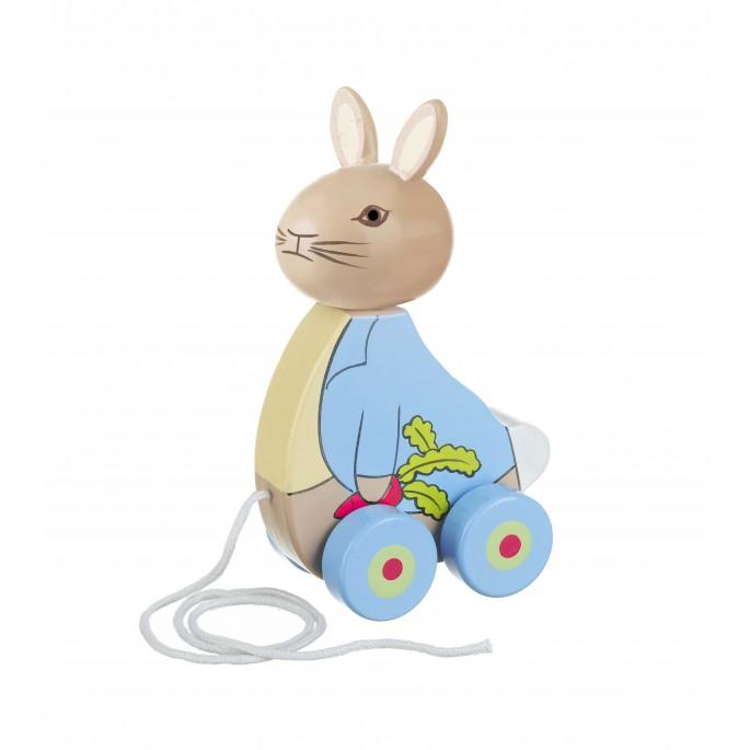 Дървена играчка за дърпане Зайчето Питър от Orange tree toys-bellamiestore