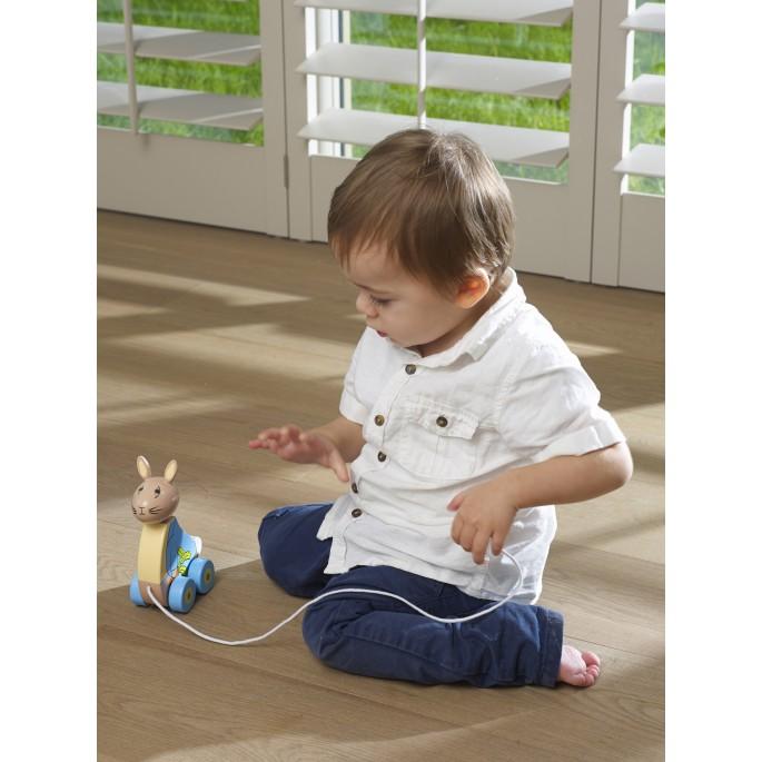 Дървена играчка за дърпане Зайчето Питър от Orange tree toys(1)-bellamiestore