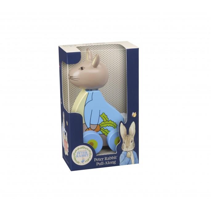 Дървена играчка за дърпане Зайчето Питър от Orange tree toys(2)-bellamiestore