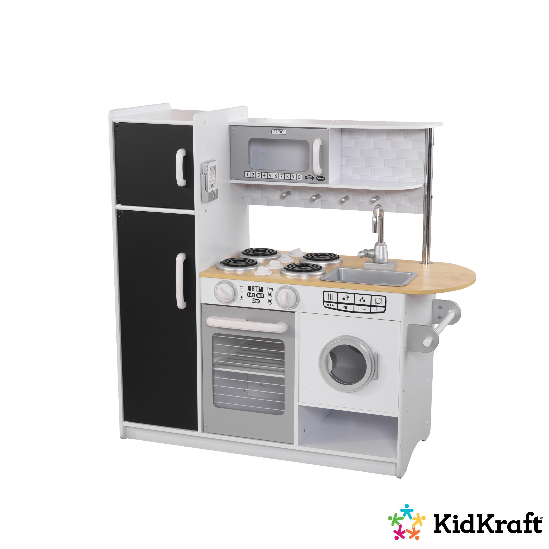 Голяма детска дървена кухня с хладилник Pepperpot от KidKraft - Bellamie