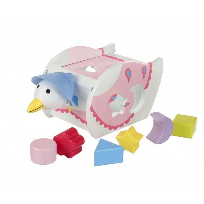 Играчка за сортиране –патицата Джемайма от Orangee Tree Toys - Bellamie