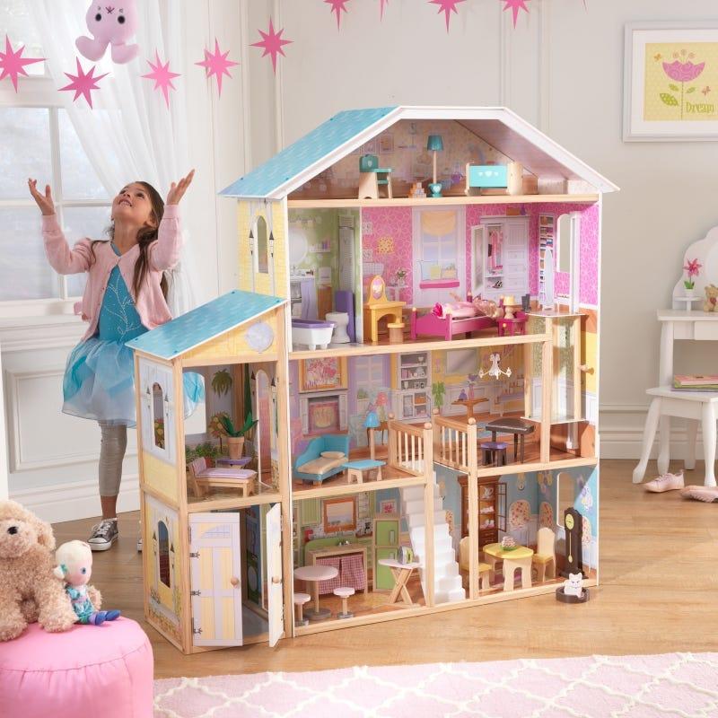 Къща за кукли Барби Маджестик - детска играчка от Kidkraft(3)-bellamiestore