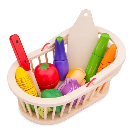 кошница с зеленчуци за рязане- дървена играчка от New classic toys(2)-bellamiestore