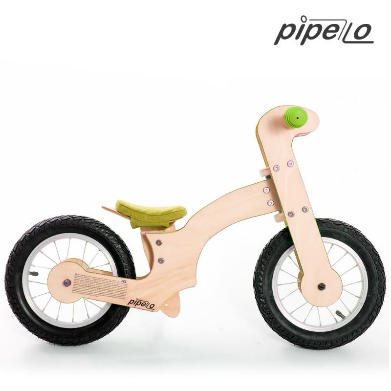 Pipelo - Дървено колело без педали - Лили в зелено - bellamiestore