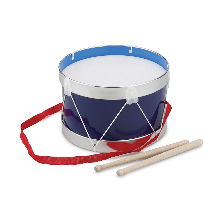 Барабан за деца в синьо с диаметър 22 см. - детски музикални инструменти от New classic toys-bellamiestore