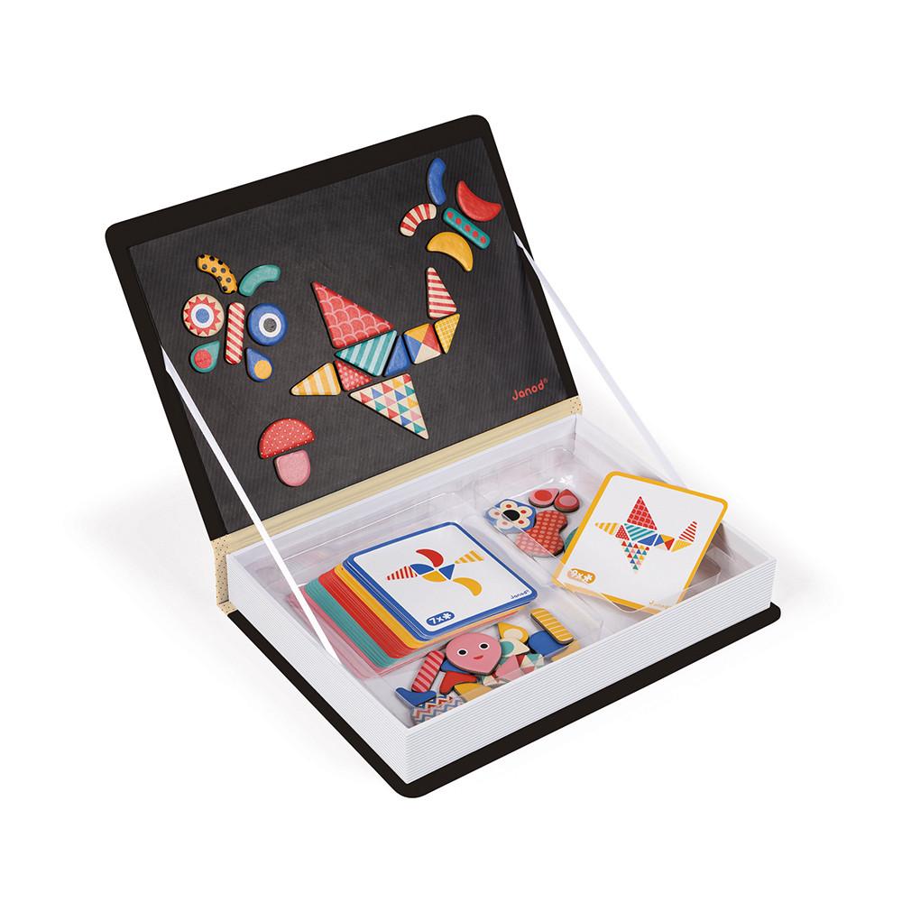 Образователна игра- Магнитна книга с фигури - детски играчка от Janod-bellamiestore