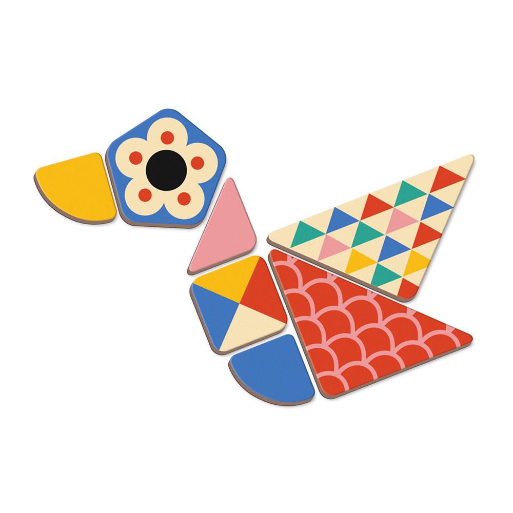 Образователна игра- Магнитна книга с фигури - детски играчка от Janod(1)-bellamiestore