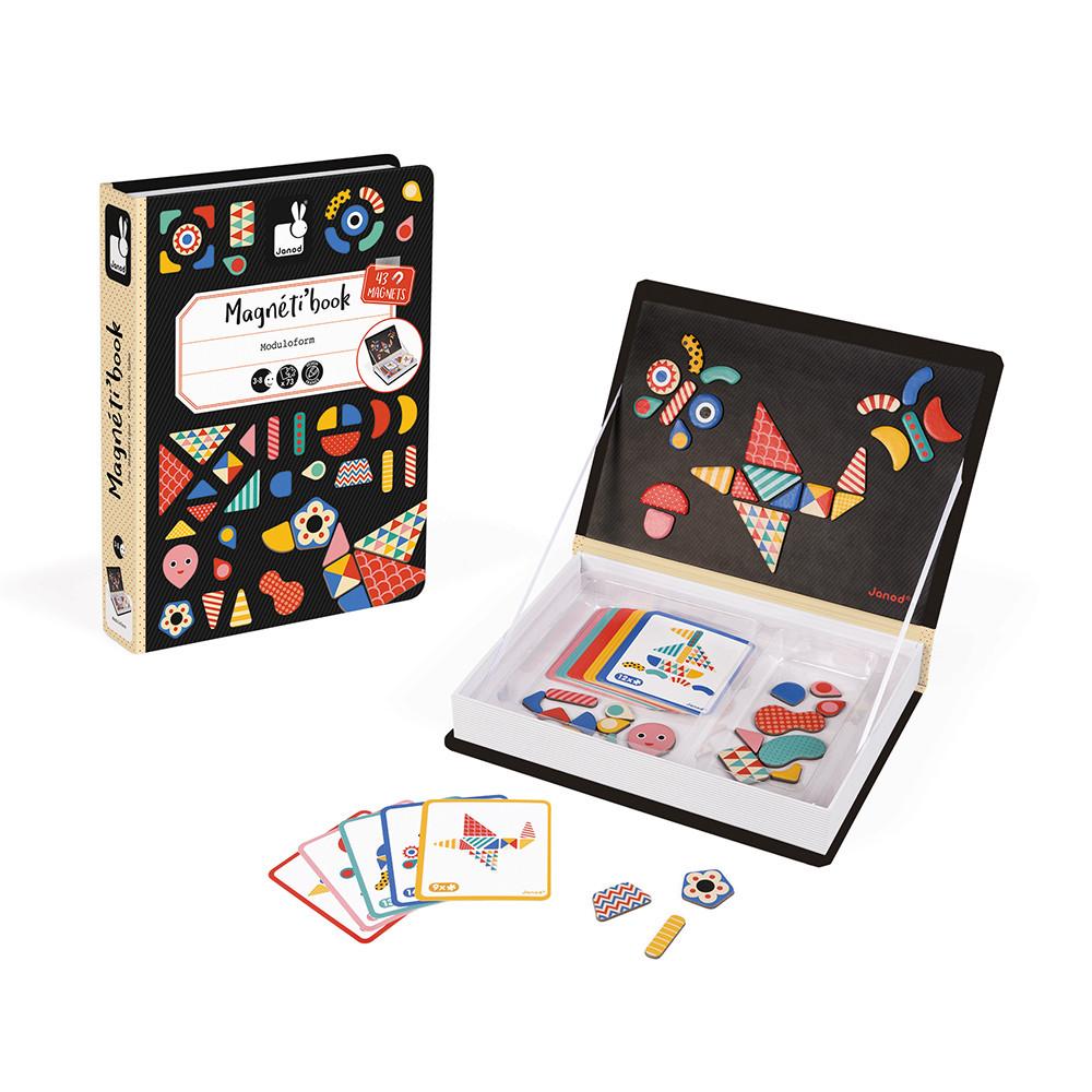Образователна игра- Магнитна книга с фигури - детски играчка от Janod(2)-bellamiestore