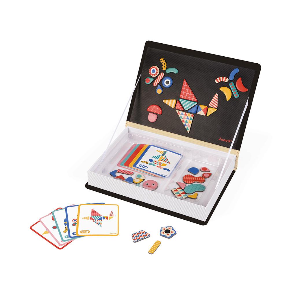 Образователна игра- Магнитна книга с фигури - детски играчка от Janod(3)-bellamiestore