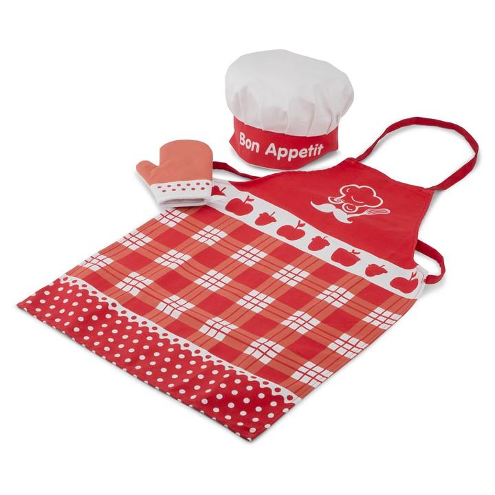 Комплект за готвене - Малък готвач в червено от New classic toys-bellamie