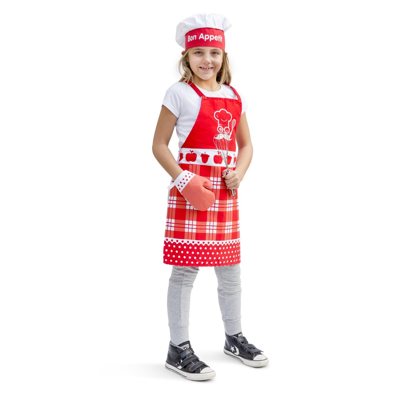 Комплект за готвене - Малък готвач в червено от New classic toys-bellamiestore