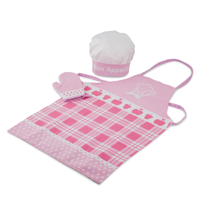 Детски готварски комплет - Малък шеф в розово от New classic toys-bellamiestore