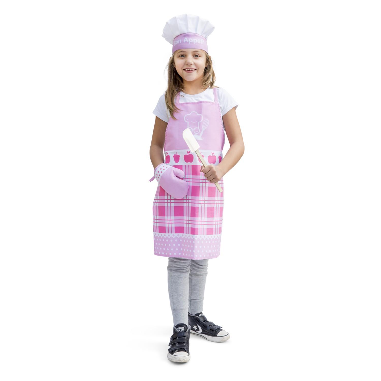 Детски готварски комплет - Малък шеф в розово от New classic toys-bellamie