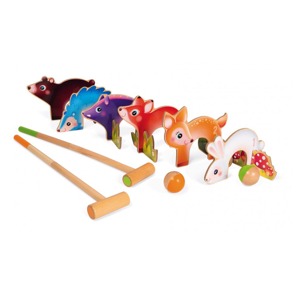 Детски крикет от дърво - Горски животни от Janod(5)-bellamiestore