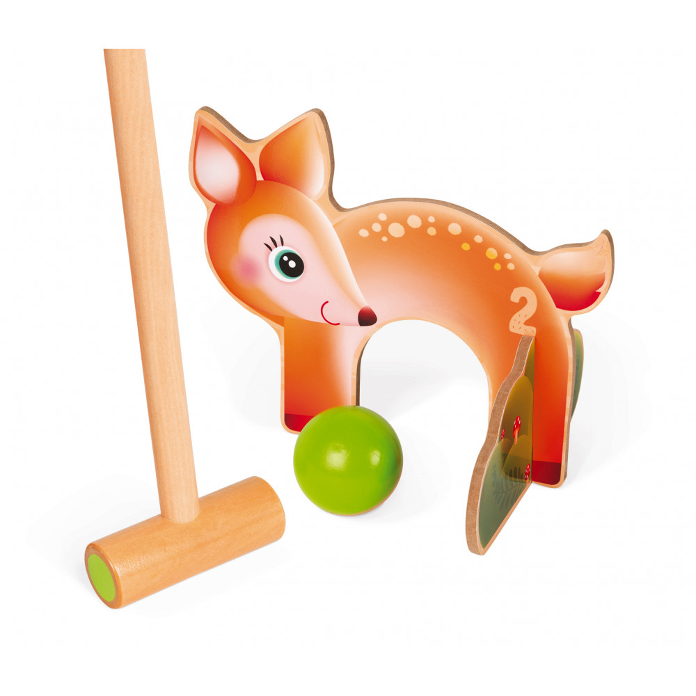 Детски крикет от дърво - Горски животни от Janod(4)-bellamiestore