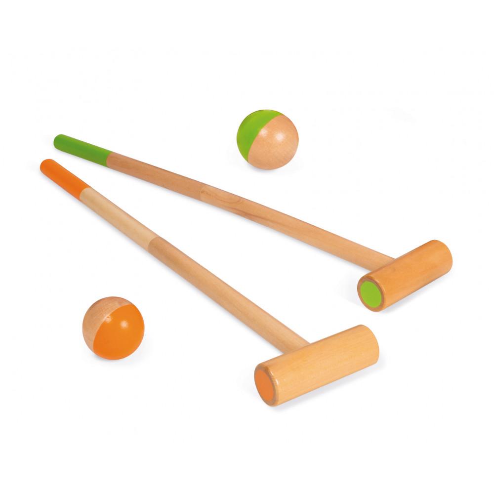 Детски крикет от дърво - Горски животни от Janod(3)-bellamiestore