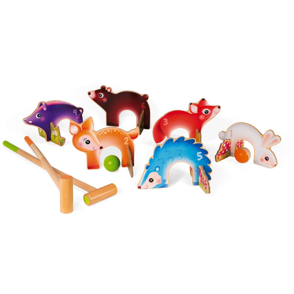 Детски крикет от дърво - Горски животни от Janod-bellamiestore