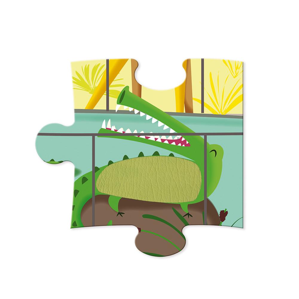 Детски пъзел осезание - Дивите животни от 20 части - детски играчки от Janod(4)-bellamiestore