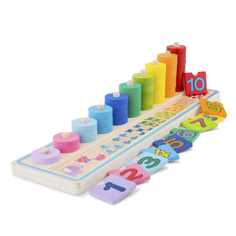 дървена игра за броене- образователна играчка от New classic toys-bellamie