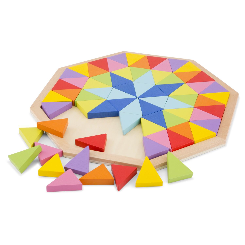 Дървена играчка и детски пъзел с осмоъгълници от New classic toys-bellamiestore