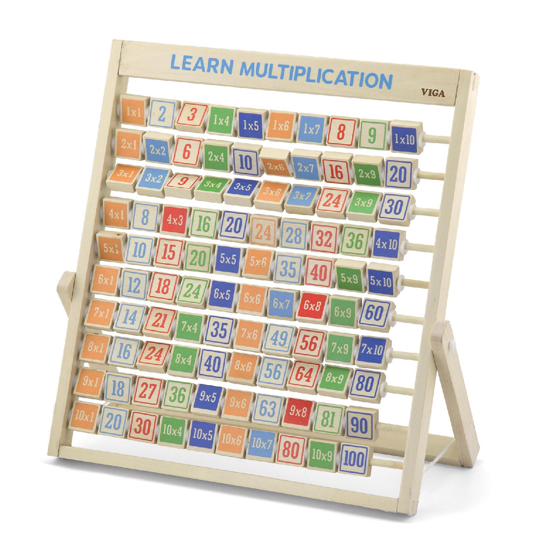Дървена таблица за умножение на стойка- образователна играчка от Viga toys-bellamiestore