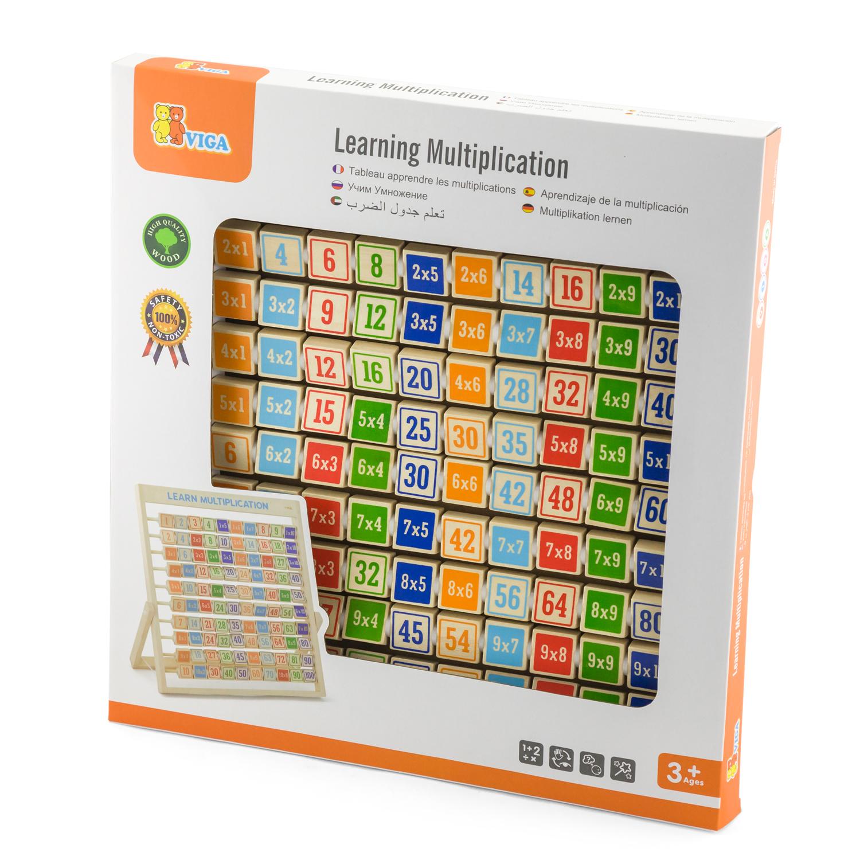 Дървена таблица за умножение на стойка- образователна играчка от Viga toys-bellamie