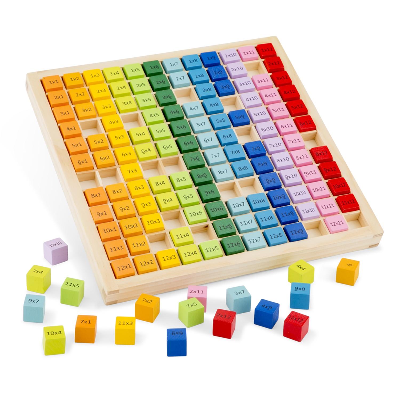 дървена таблица за умножение -образователни играчки от New classic toys-bellamie