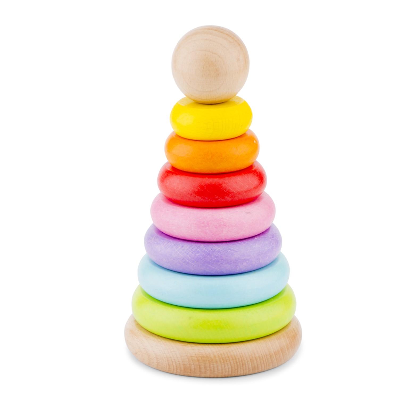 Дървени рингове за бебета - Дъга от New classic toys-bellamiestore