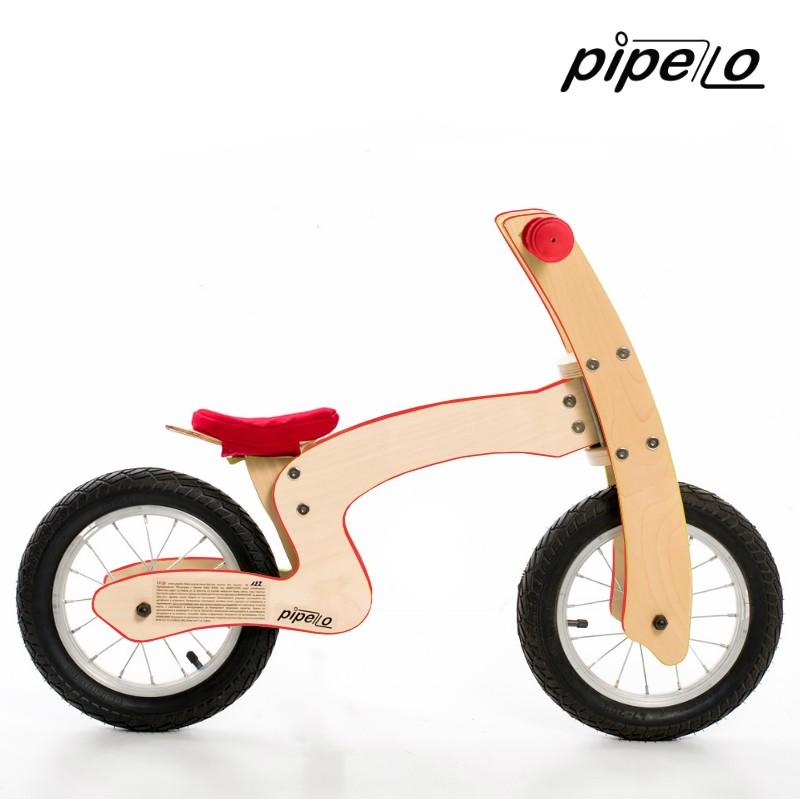 "Pipelo - Дървено баланс колело - модел ""Z"" червено (1) - Беллами"