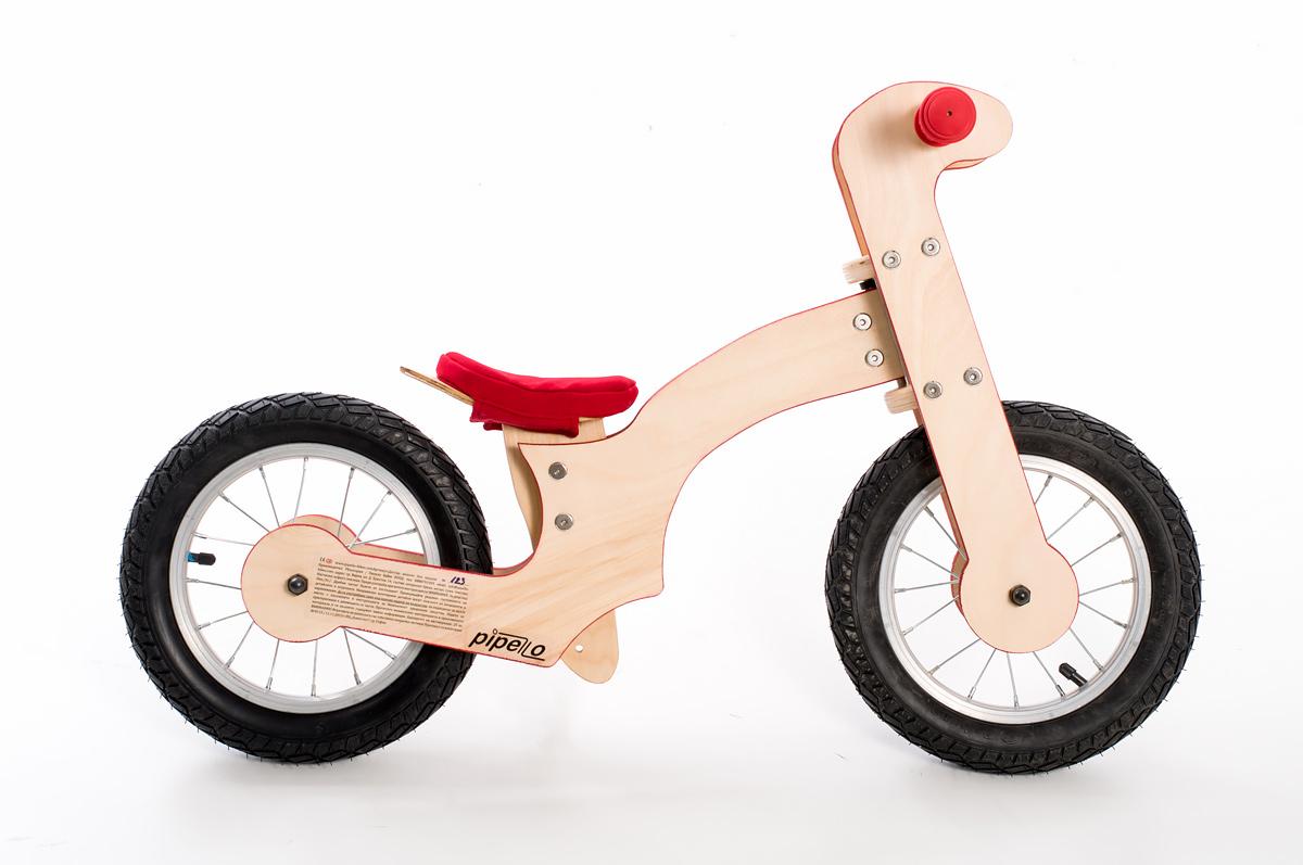 "Pipelo – Дървено баланс колело – модел ""Z"" червено (2)"