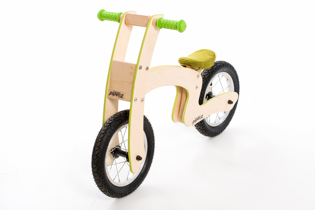 """Pipelo - Дървено колело за баланс - Модел """"Z"""" в зелено (2) - Bellamiestore"""