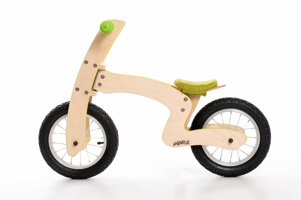 """Pipelo - Дървено колело за баланс - Модел """"Z"""" в зелено (3) - Bellamiestore"""