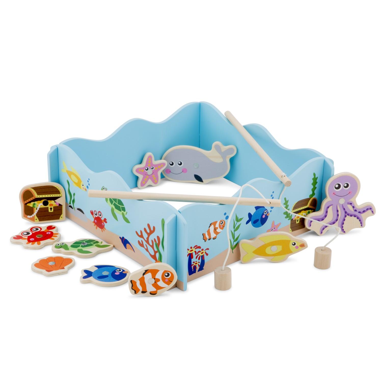 Забавна игра - Аквариум с рибки - дървени образователни играчки от New classic toys-bellamiestore
