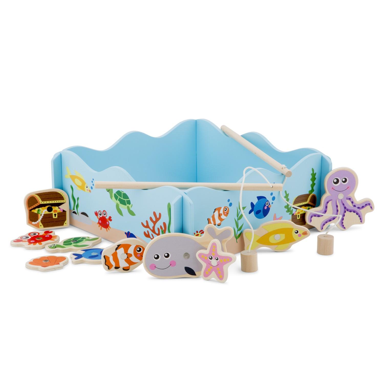 Забавна игра - Аквариум с рибки - дървени образователни играчки от New classic toys-bellamie