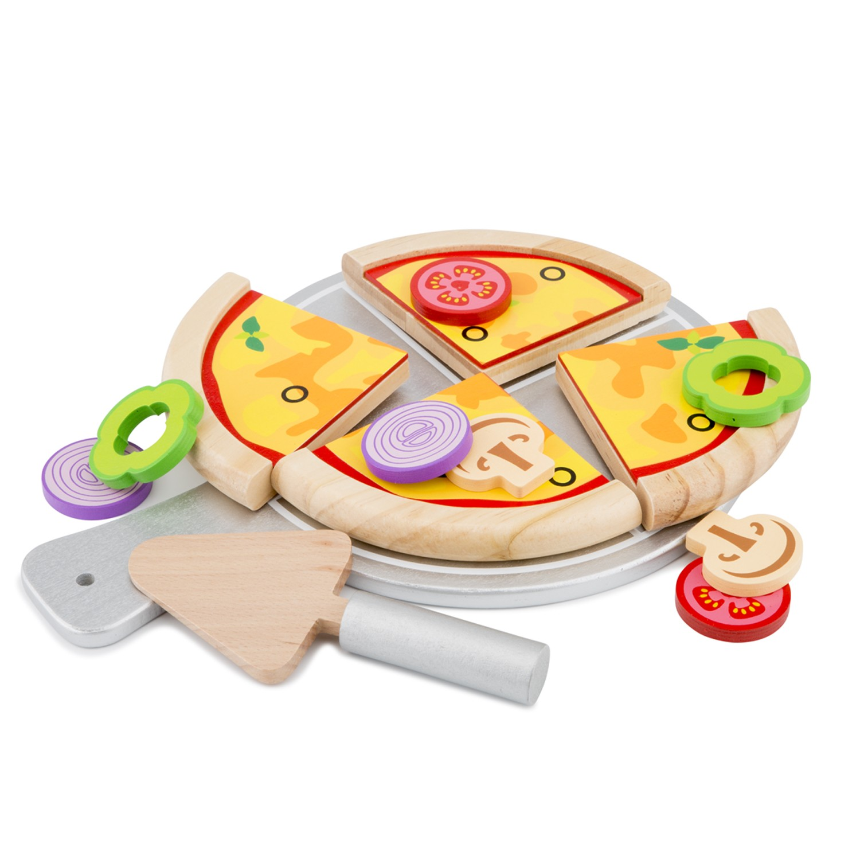 Дървен комплек - Направи си пица от New classic toys-bellamiestore