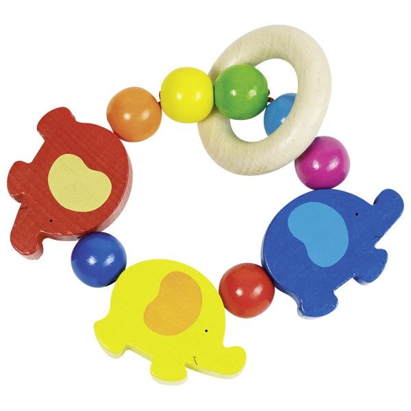 Дървена бебешка дрънкалка от Heimess - бебешки играчки-bellamiestore