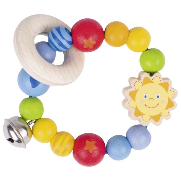 Дъррвена бебешка дрънкалка Слънце - Бебешки играчки от Heimess-bellamiestore