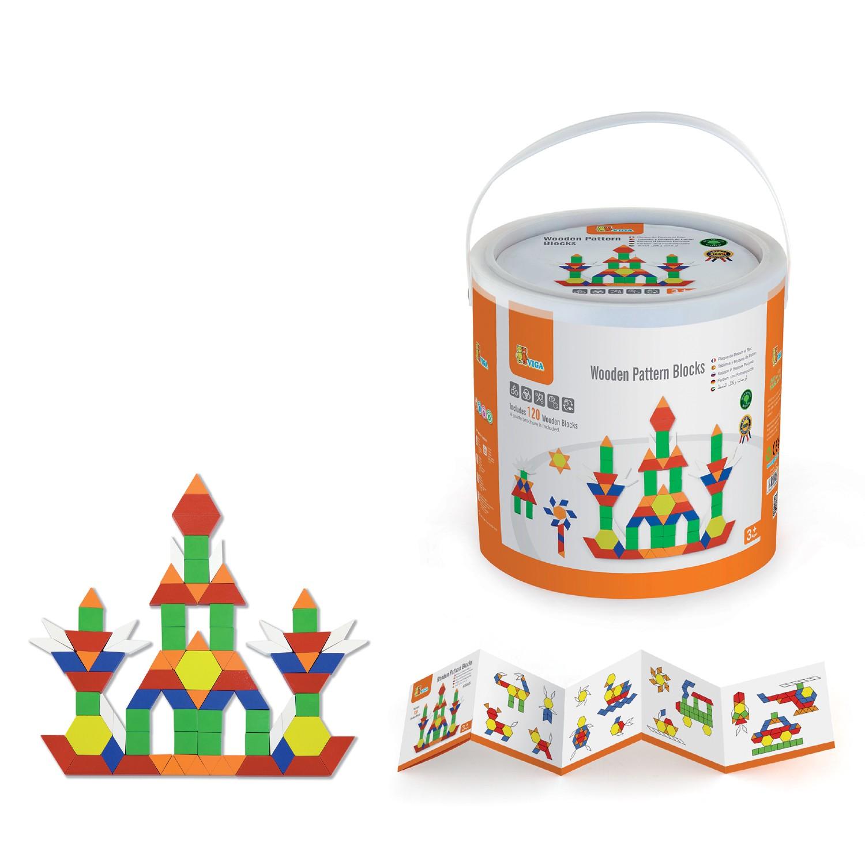 Дървена цветна мозайка от 250 части - образователни играчки от Viga toys-bellamiestore