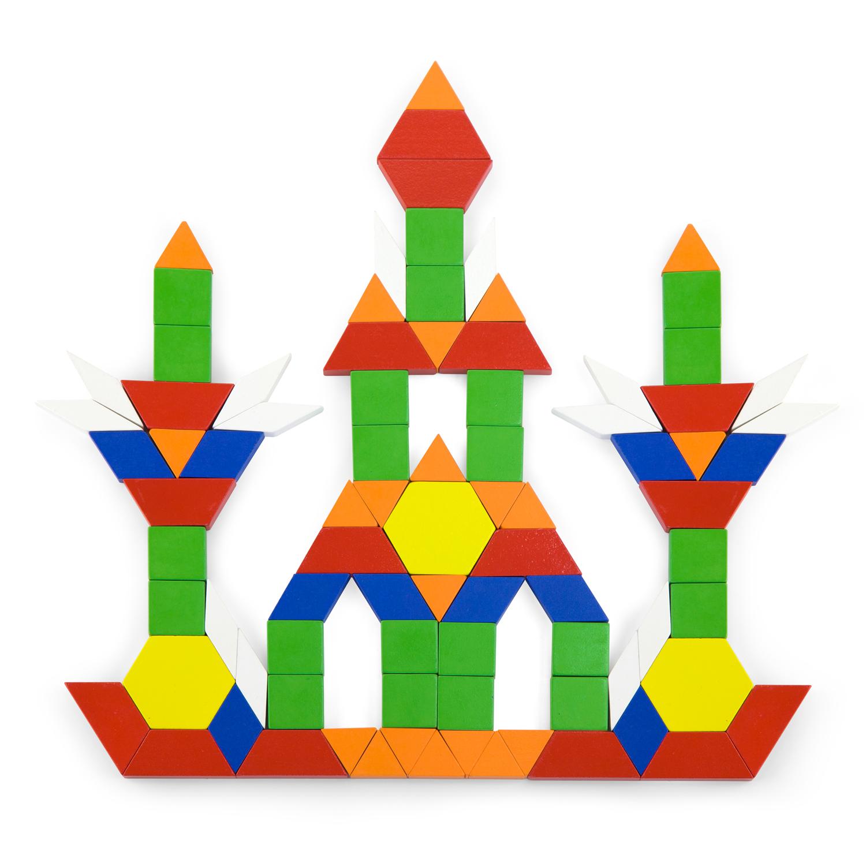 Дървена цветна мозайка от 250 части - образователни играчки от Viga toys-bellamie