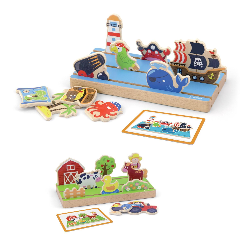 Дървена играчка - Аз уча разстояния и пространство от Viga toys-bellamiestore