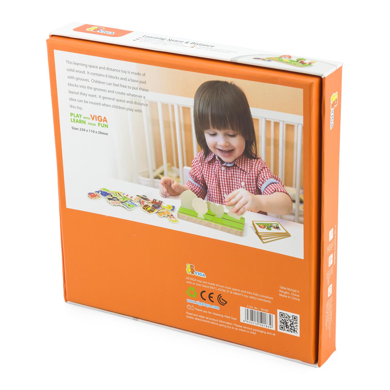 Дървена играчка - Аз уча разстояния и пространство от Viga toys- bellamie