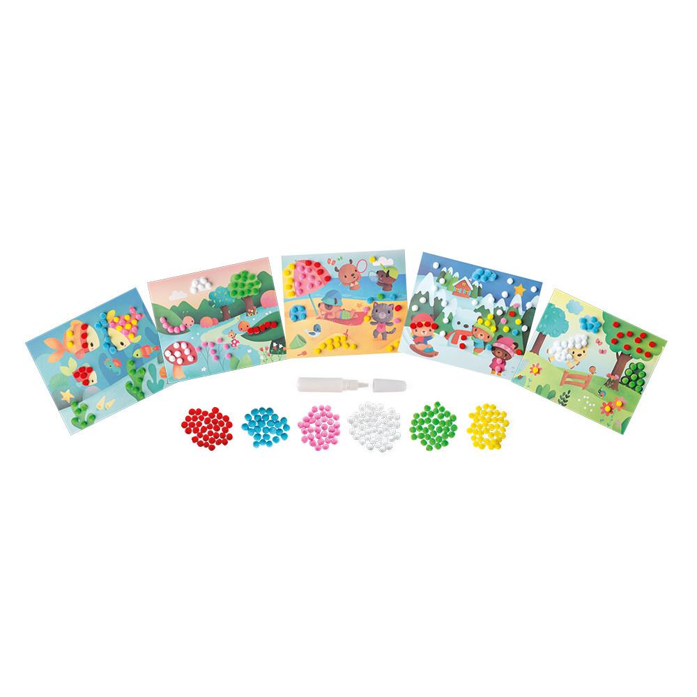 Janod Творчески комплект - Направи си картички с помпони-bellamiestore