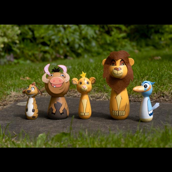 боулинг за деца с дървени фигурки от Цар Лъв - Disney от Orange tree toys-bellamiestore