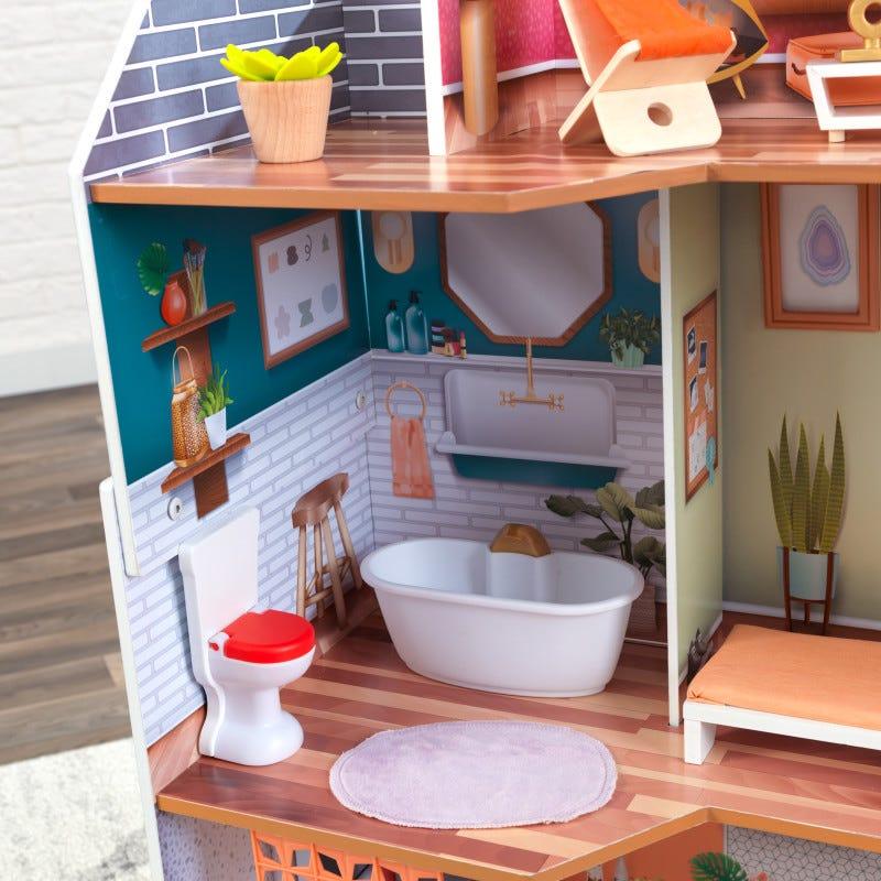 Дървена куклена къща за барбита - Марлоу от Kidkraft - Bellamie