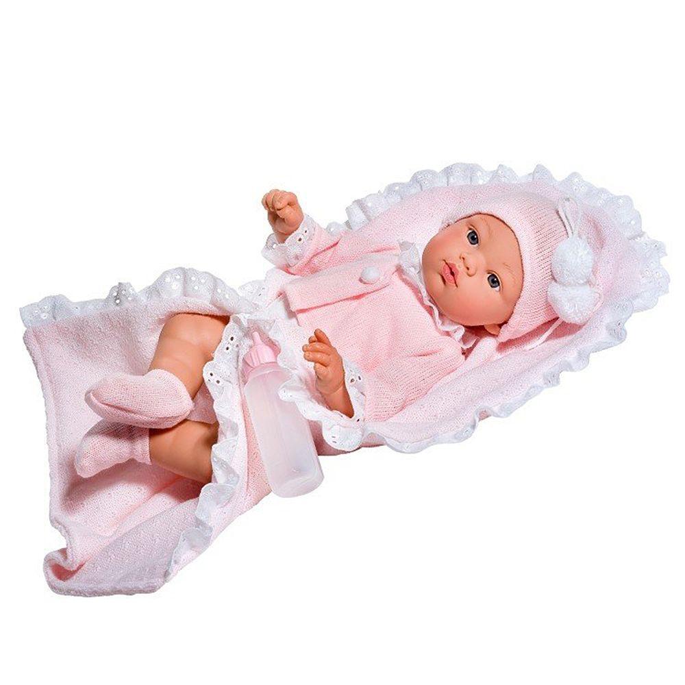 Детска кукла - Бебе Коке с розово одеяло от Asi dolls-bellamiestore