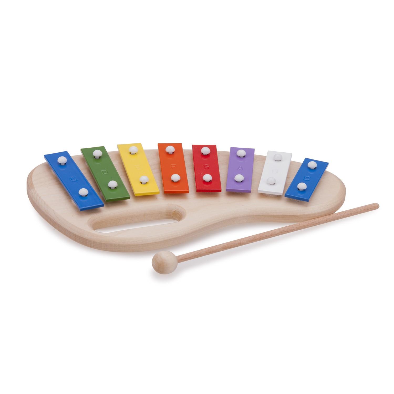 Детски металафон от дърво с осем ноти от New classic toys-bellamiestore