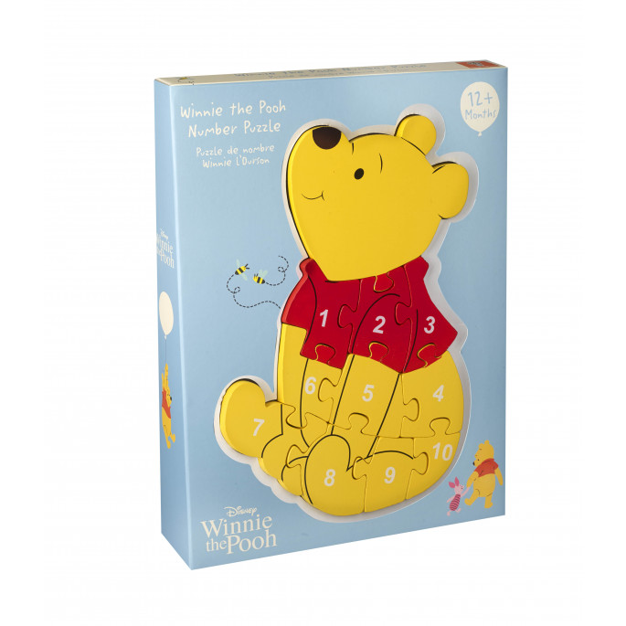 Disney детски пъзел с числа - Мечо Пух от Orange tree toys-bellamiestore