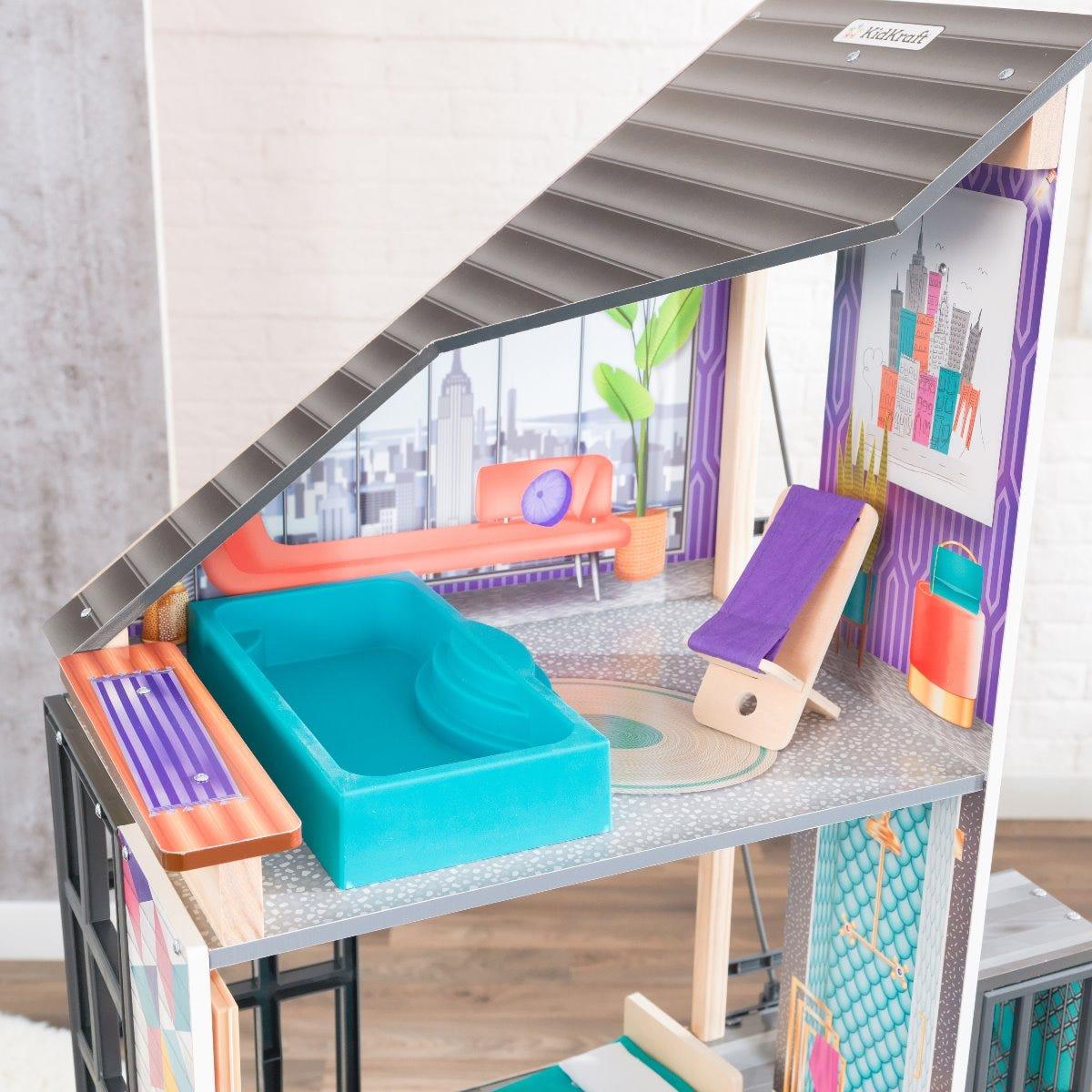 Дървена къща за кукли Барби - Кафенето на Бианка от KidKraft-bellamiestore