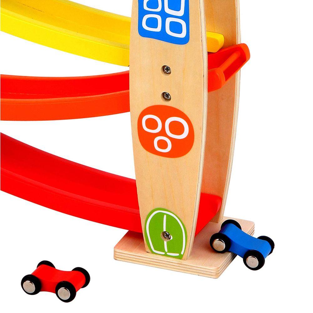 Дървена състезателна писта с три коли от Lelin toys-bellamiestore