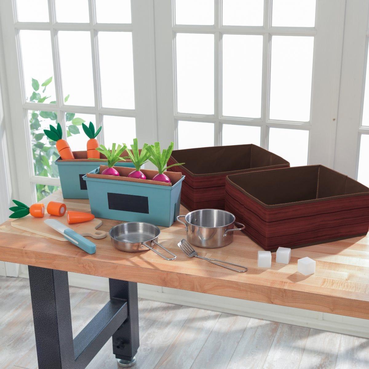 KidKraft детска дървена кухня с зеленчукова градина-bellamiestore